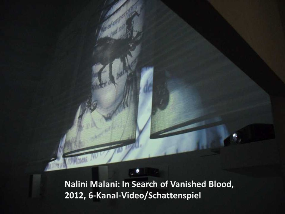 Nalini Malani: In Search of Vanished Blood, 2012, 6-Kanal-Video/Schattenspiel