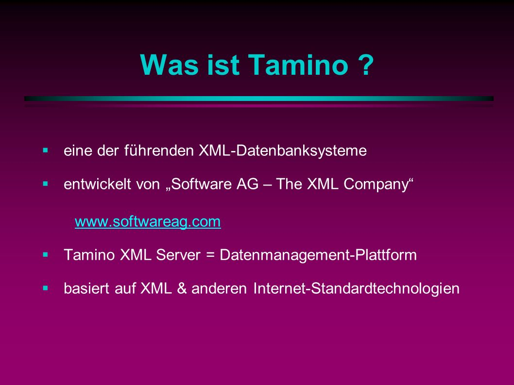Was ist Tamino .