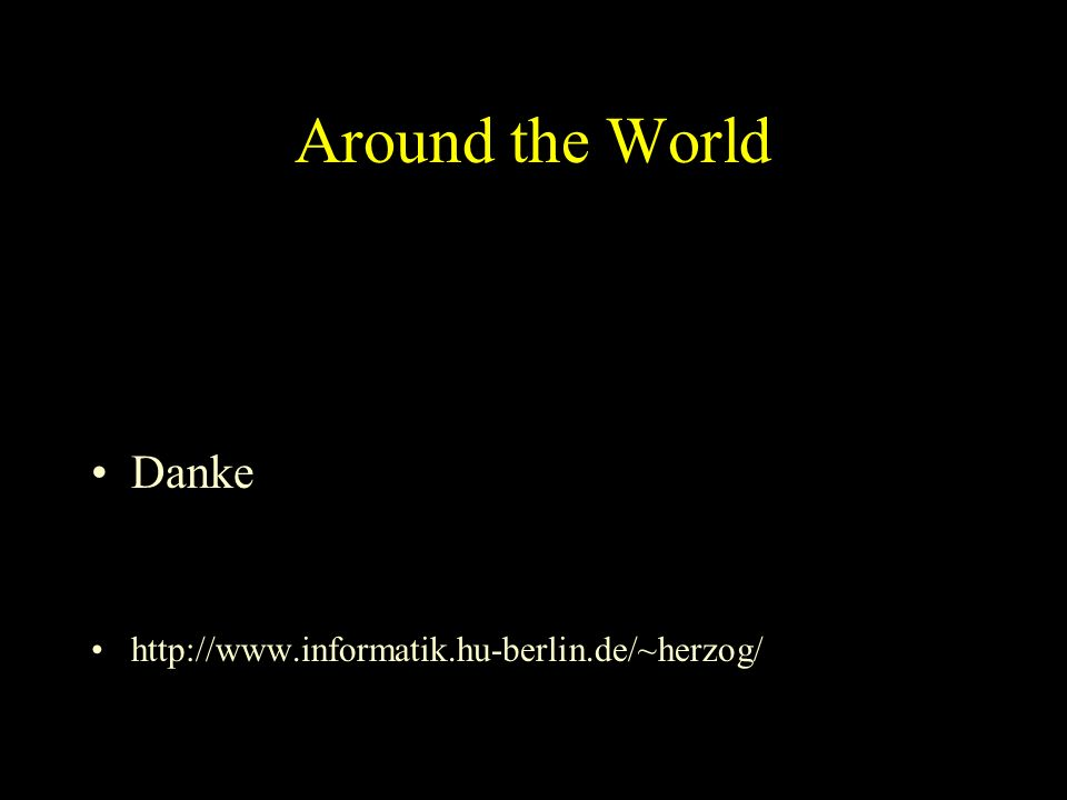 Around the World Danke