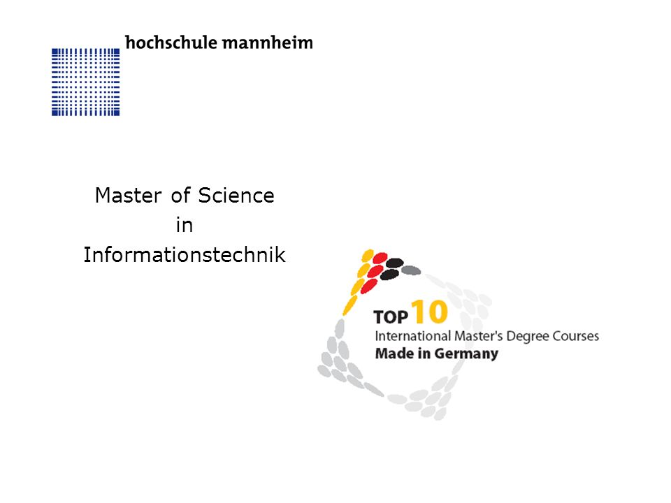 Master of Science in Informationstechnik