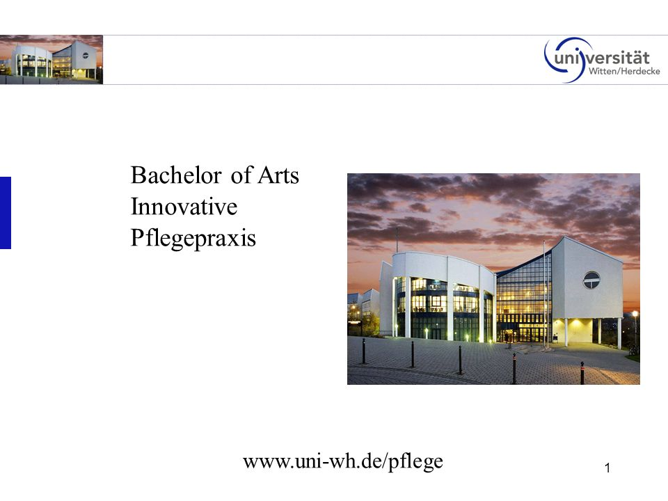 1 Bachelor of Arts Innovative Pflegepraxis