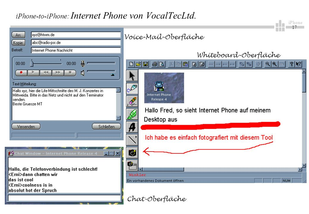 iPhone 17 iPhone-to-iPhone: Internet Phone von VocalTecLtd.