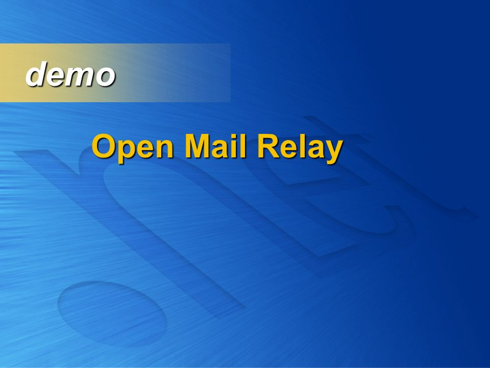 Open Mail Relay demo demo
