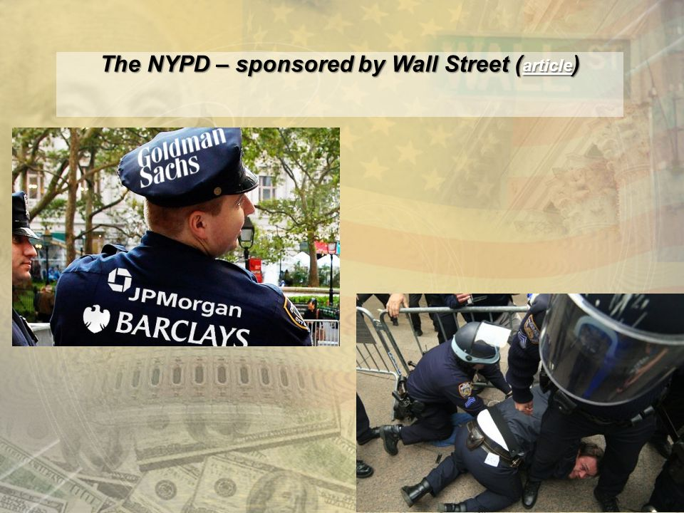 The NYPD – sponsored by Wall Street ( article ) article