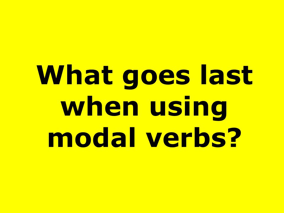 What goes last when using modal verbs