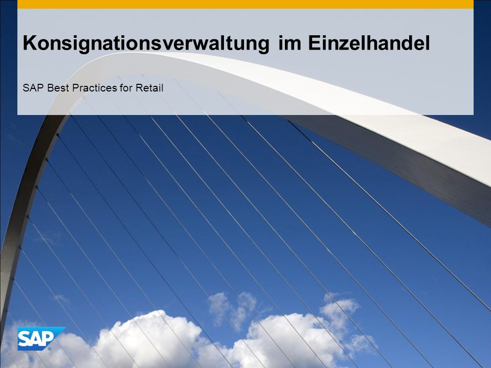 Konsignationsverwaltung im Einzelhandel SAP Best Practices for Retail
