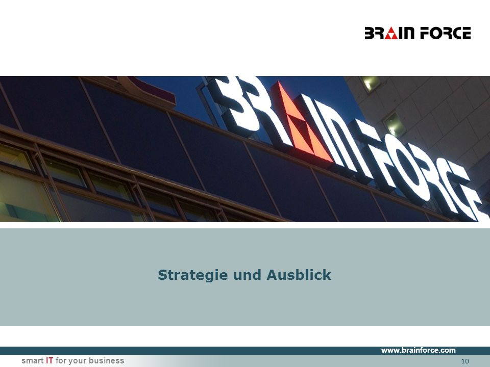 smart IT for your business 10 Strategie und Ausblick