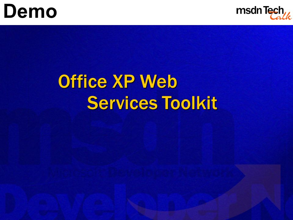 Office XP Web Services Toolkit Demo