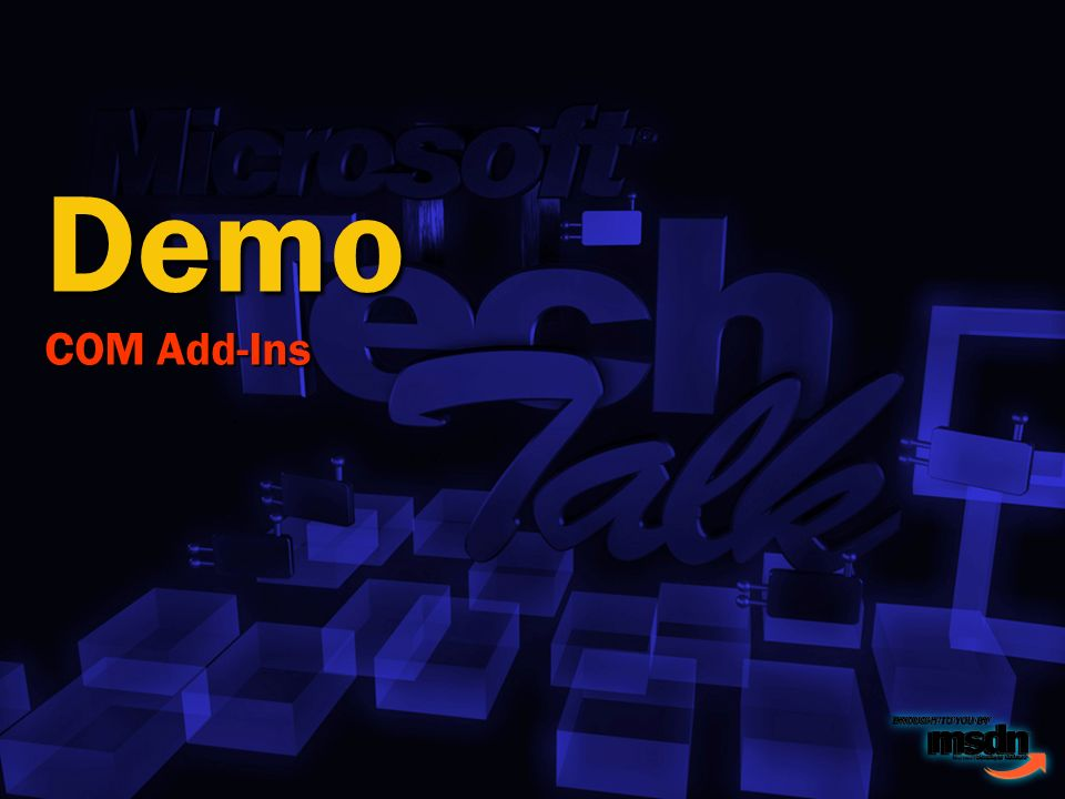 Demo COM Add-Ins