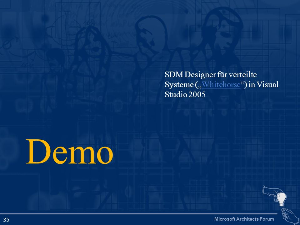 Microsoft Architects Forum 35 Demo SDM Designer für verteilte Systeme (Whitehorse) in Visual Studio 2005Whitehorse