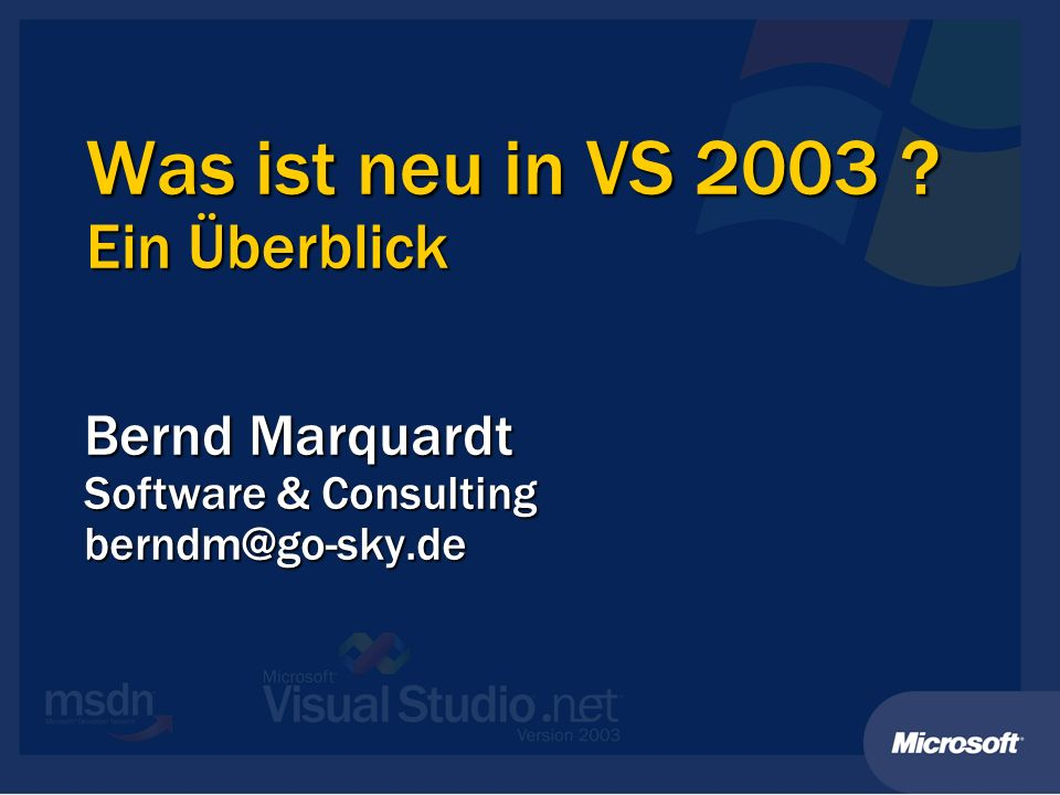 Bernd Marquardt Software & Consulting