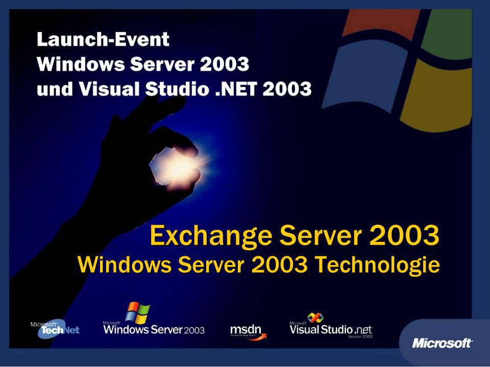 Exchange Server 2003 Windows Server 2003 Technologie