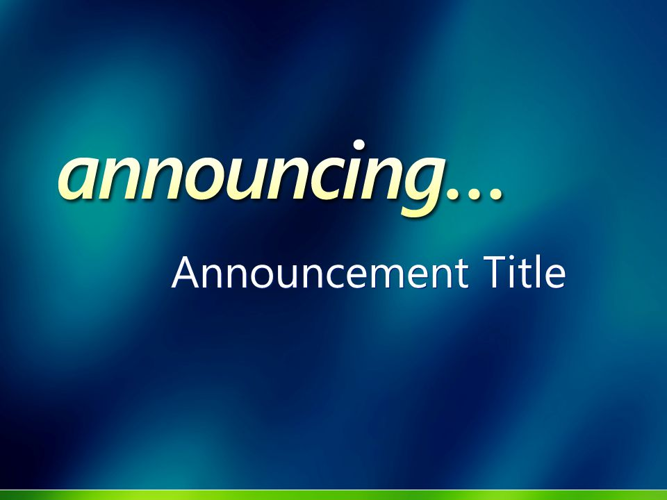 Announcement Title