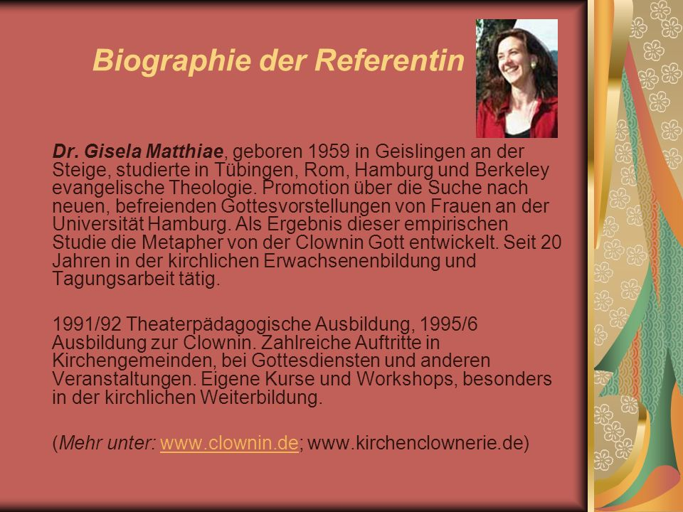 Biographie der Referentin Dr.