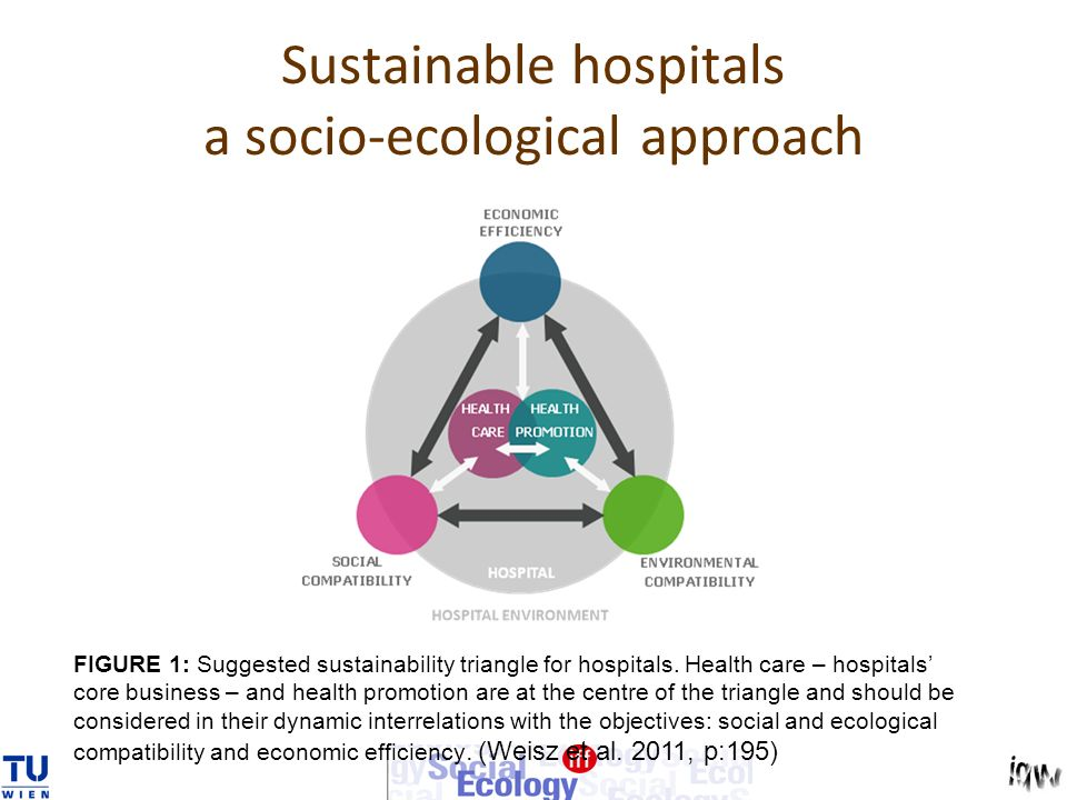 Sustainable hospitals a socio-ecological approach FIGURE 1: Suggested sustainability triangle for hospitals.