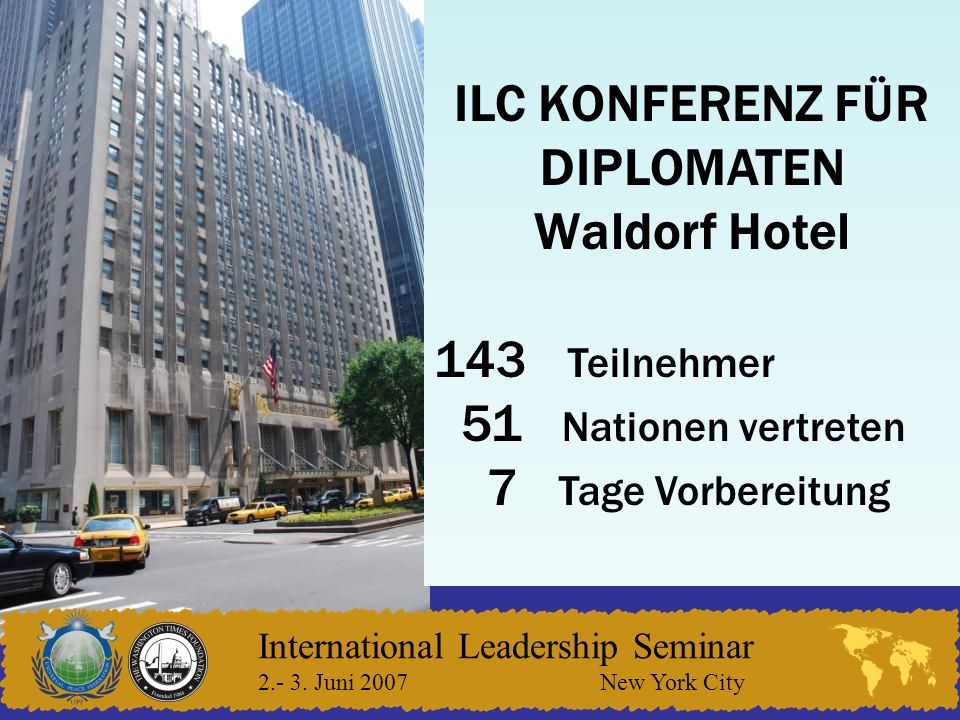 International Leadership Seminar 2.- 3.