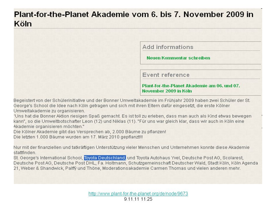 http://www.plant-for-the-planet.org/de/node/9673 9.11.11 11:25