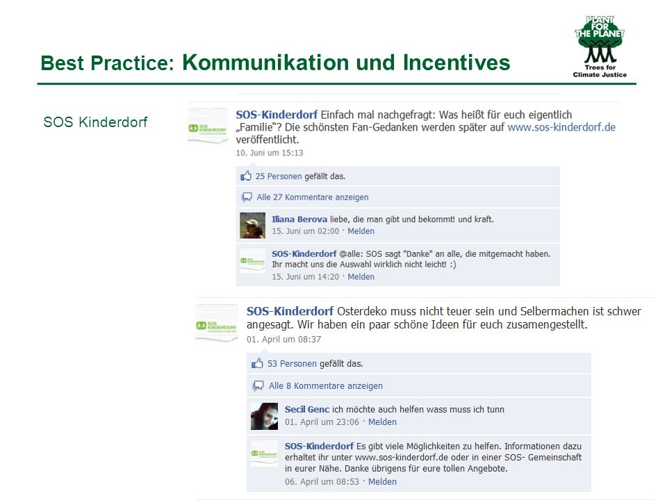 Best Practice: Kommunikation und Incentives SOS Kinderdorf