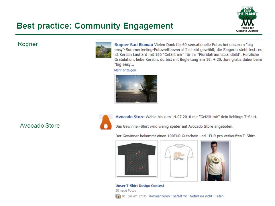 Best practice: Community Engagement Rogner Avocado Store
