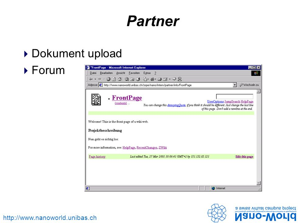 Partner Dokument upload Forum