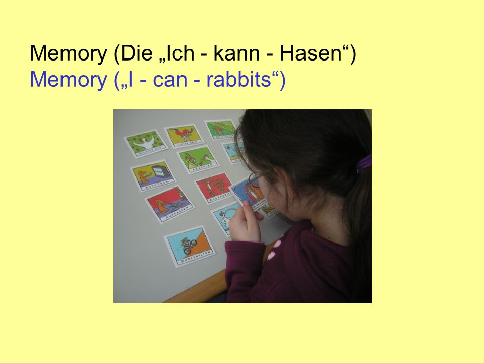 Memory (Die Ich - kann - Hasen) Memory (I - can - rabbits)