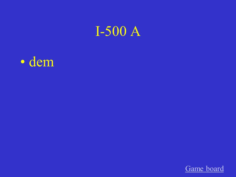 I-400 A den Game board