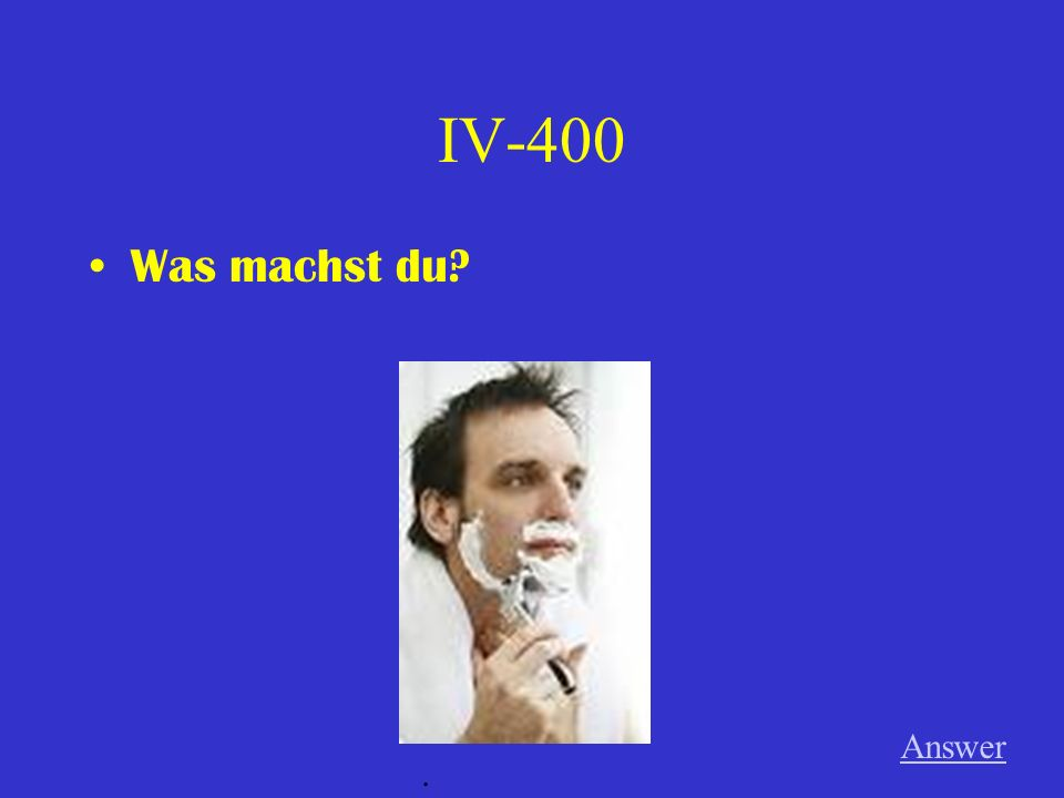 IV-300 Was macht Tanja Answer.