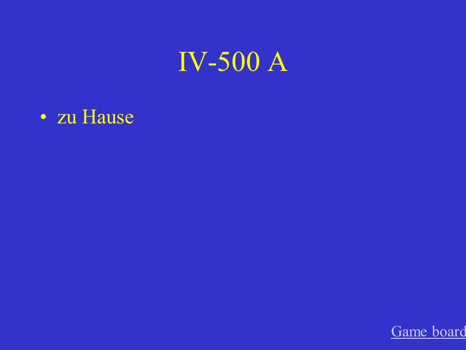 IV-400 A toll Game board