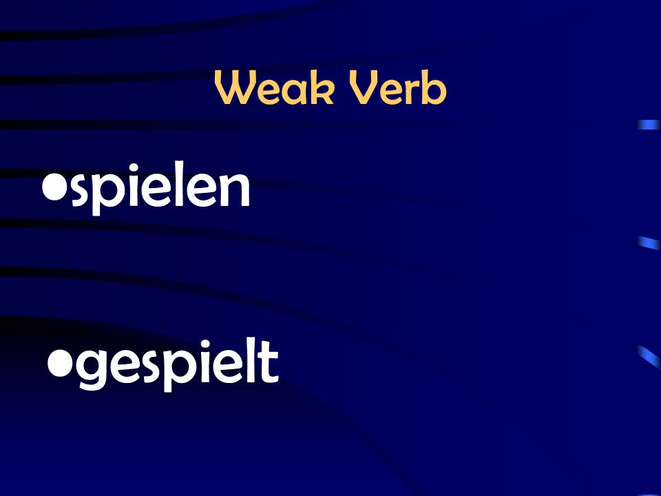 Weak or Strong stem changes ich fahre, du fährst irregular in English I drive, I drove