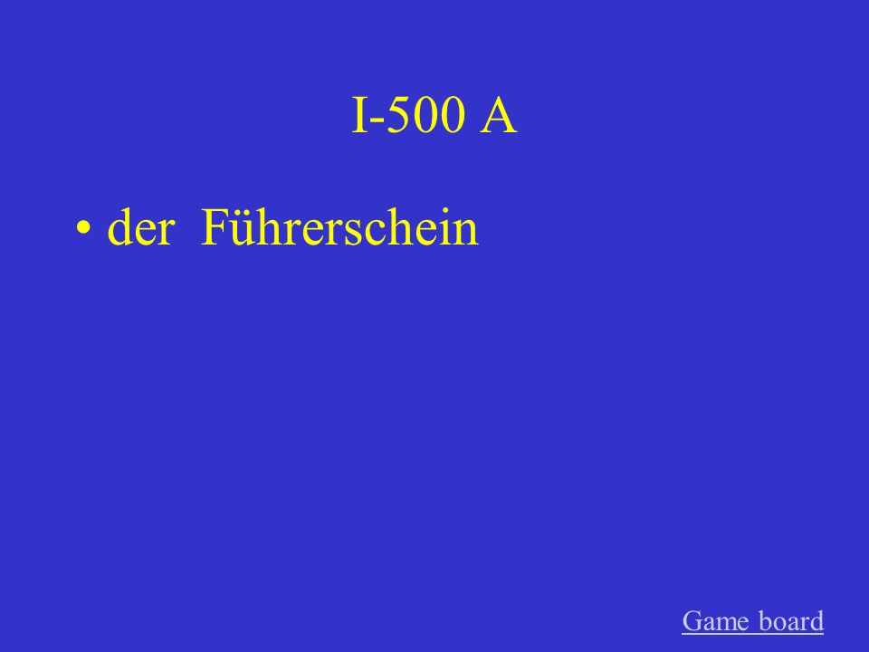 I-400 A der Regenschirm Game board