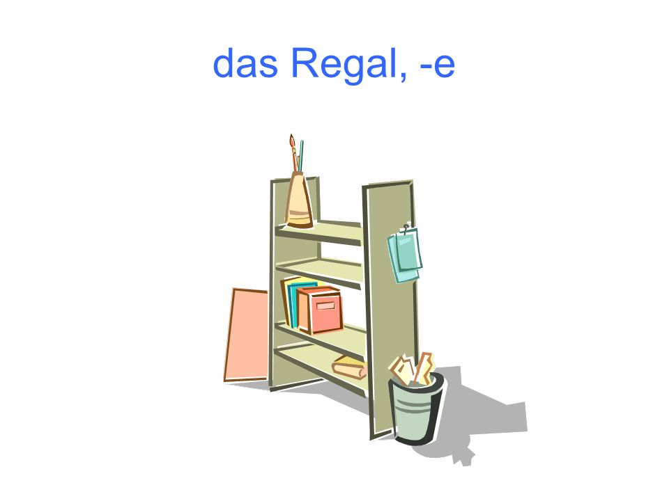 das Regal, -e
