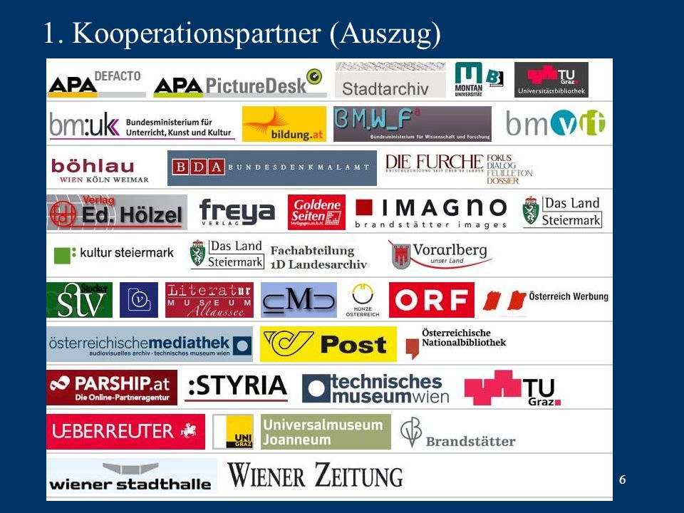 6 1. Kooperationspartner (Auszug)