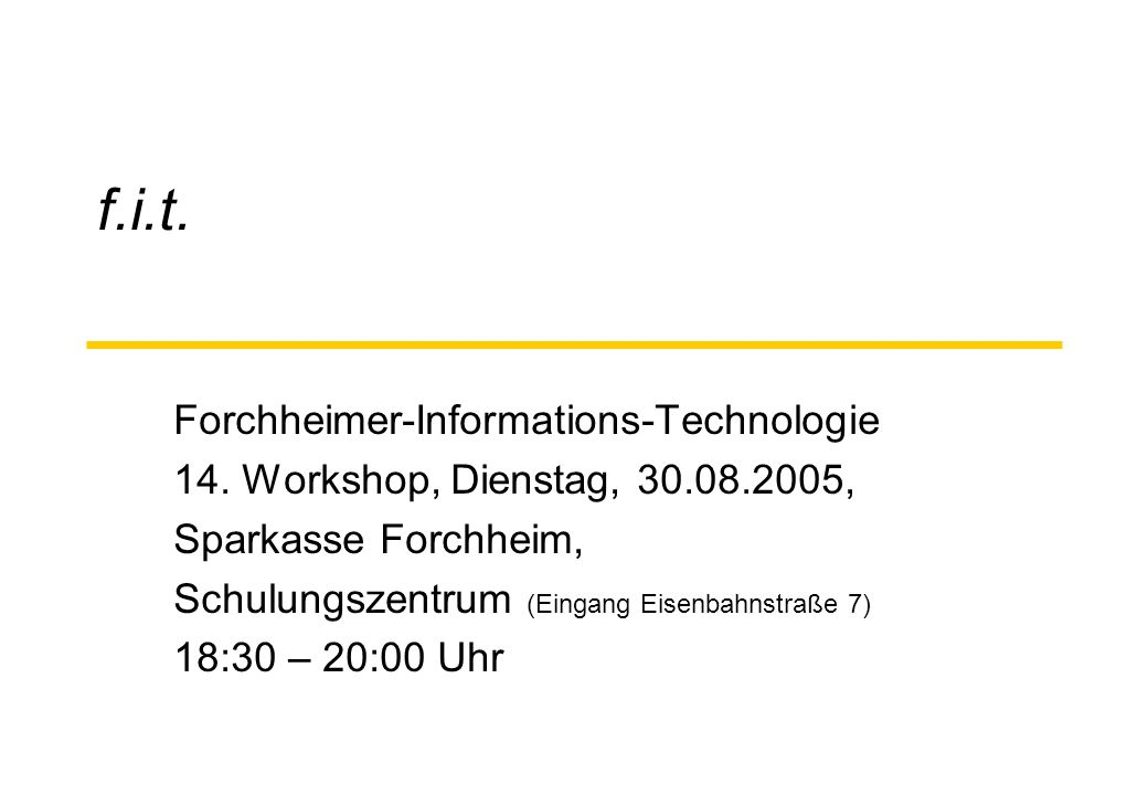 f.i.t. Forchheimer-Informations-Technologie 14.