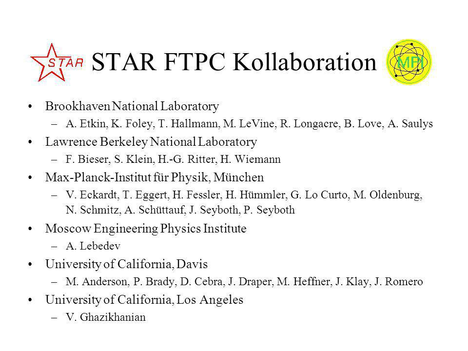 STAR FTPC Kollaboration Brookhaven National Laboratory –A.