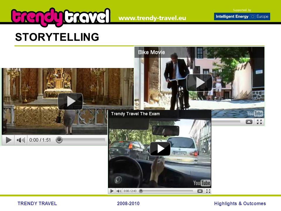 Highlights & OutcomesTRENDY TRAVEL STORYTELLING