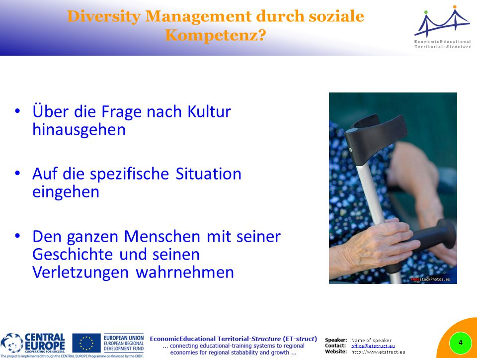Name of speaker   Diversity Management durch soziale Kompetenz.