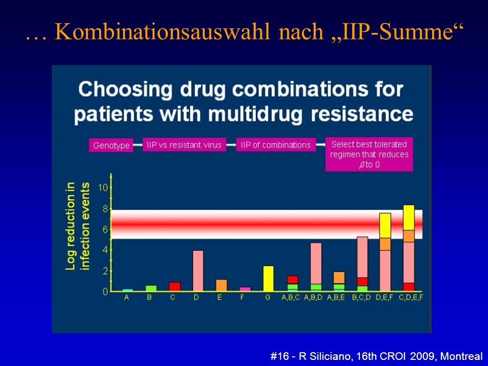 … Kombinationsauswahl nach IIP-Summe #16 - R Siliciano, 16th CROI 2009, Montreal