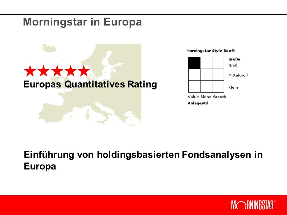 6 Europas Quantitatives Rating Morningstar in Europa Einführung von holdingsbasierten Fondsanalysen in Europa