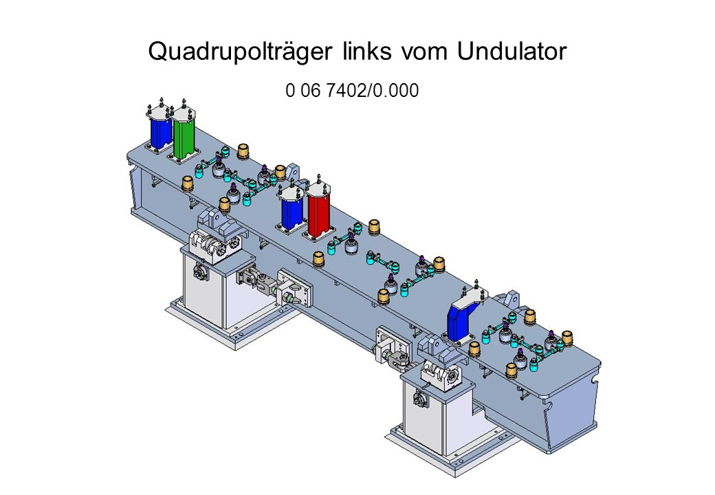Quadrupolträger links vom Undulator /0.000