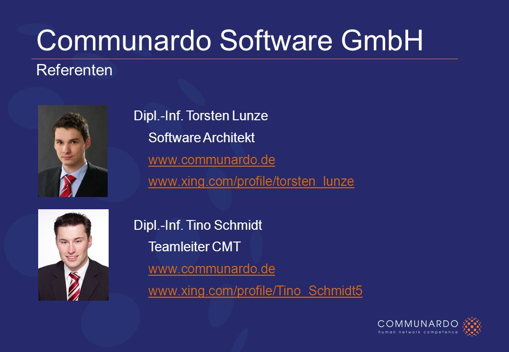 Communardo Software GmbH Referenten Dipl.-Inf.
