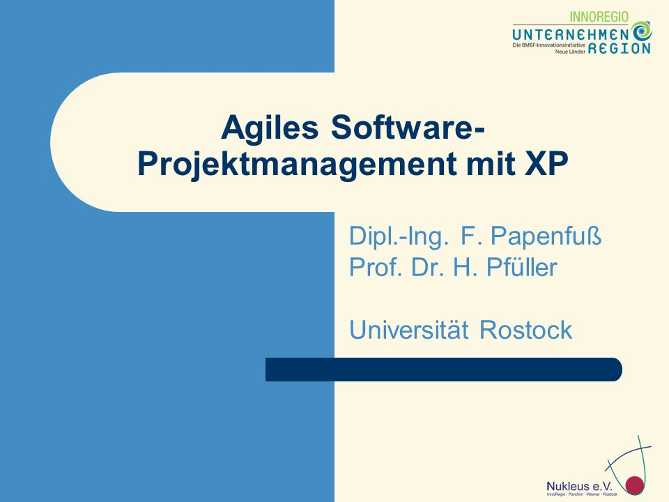 Agiles Software- Projektmanagement mit XP Dipl.-Ing.