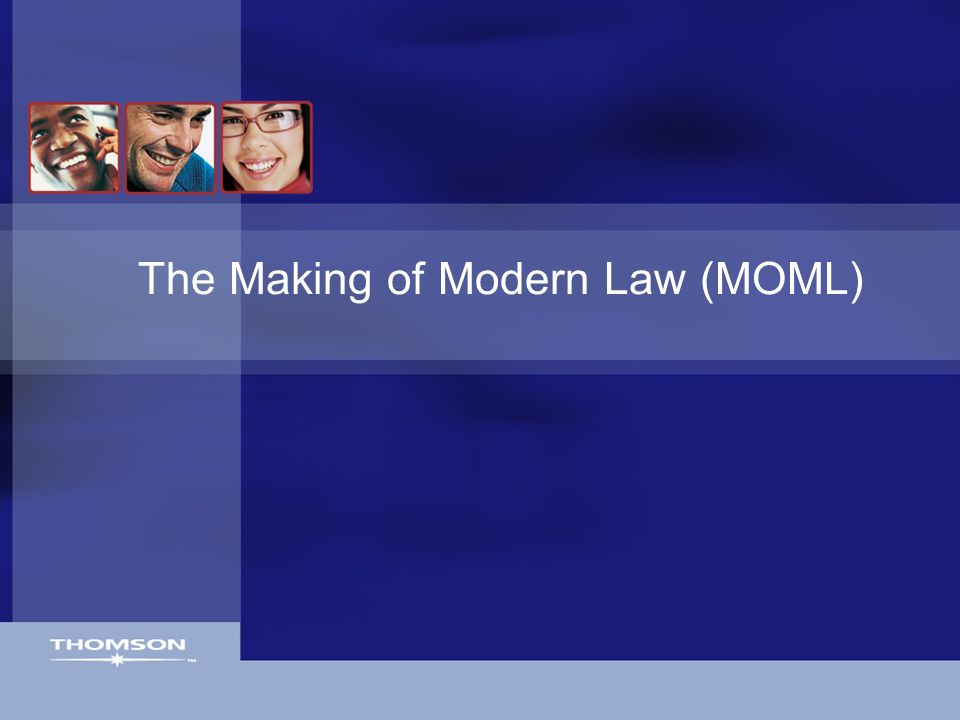 The Making of Modern Law (MOML)