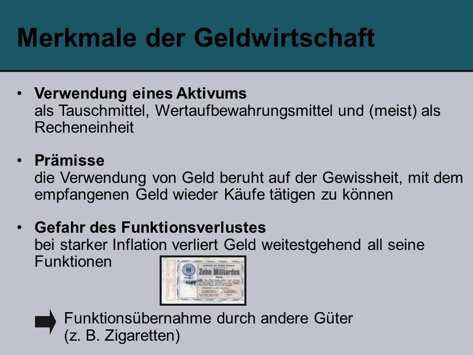 Funktionsübernahme durch andere Güter (z. B.