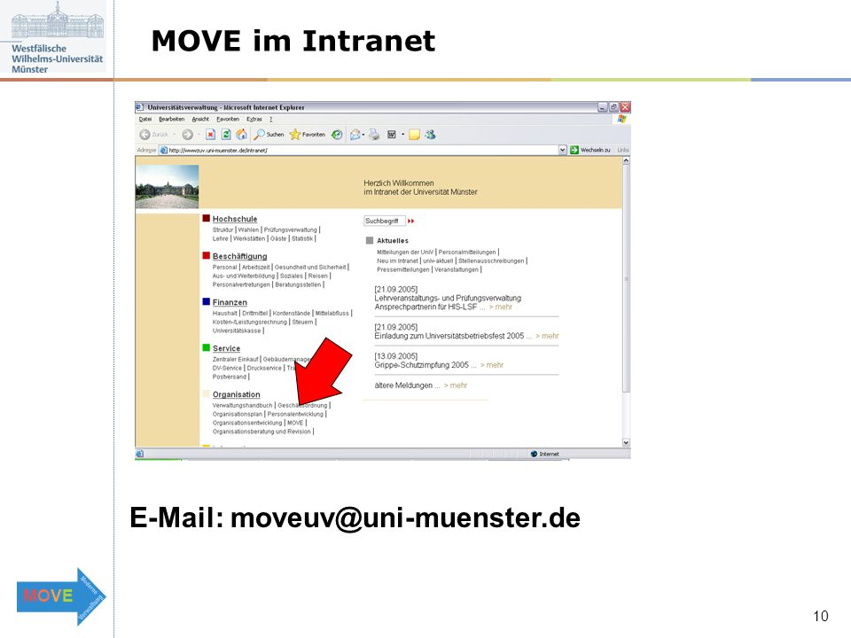 MOVEMOVE   10 MOVE im Intranet