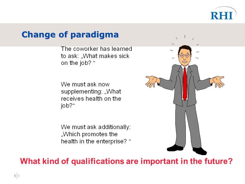 95 Change of paradigma What kind of qualifications are important in the future