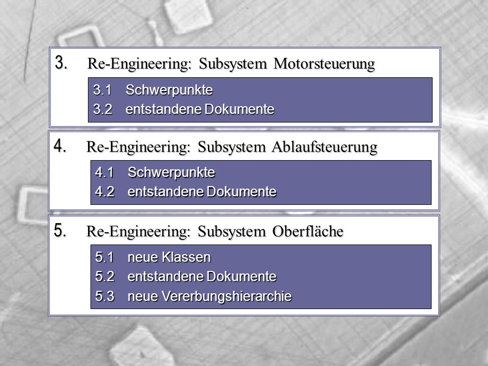 5. Re-Engineering: Subsystem Oberfläche 3.