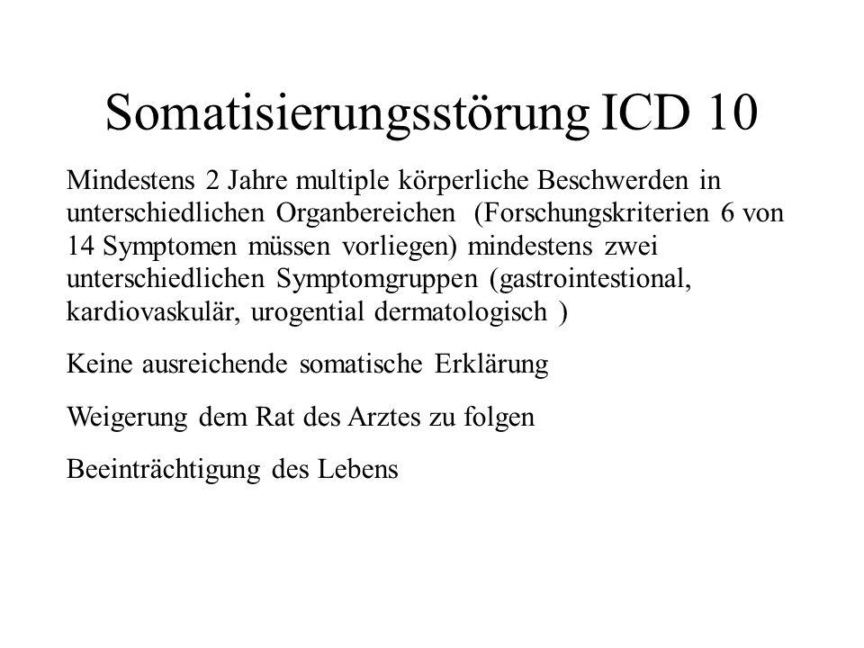 somatisierungsstörung icd 10
