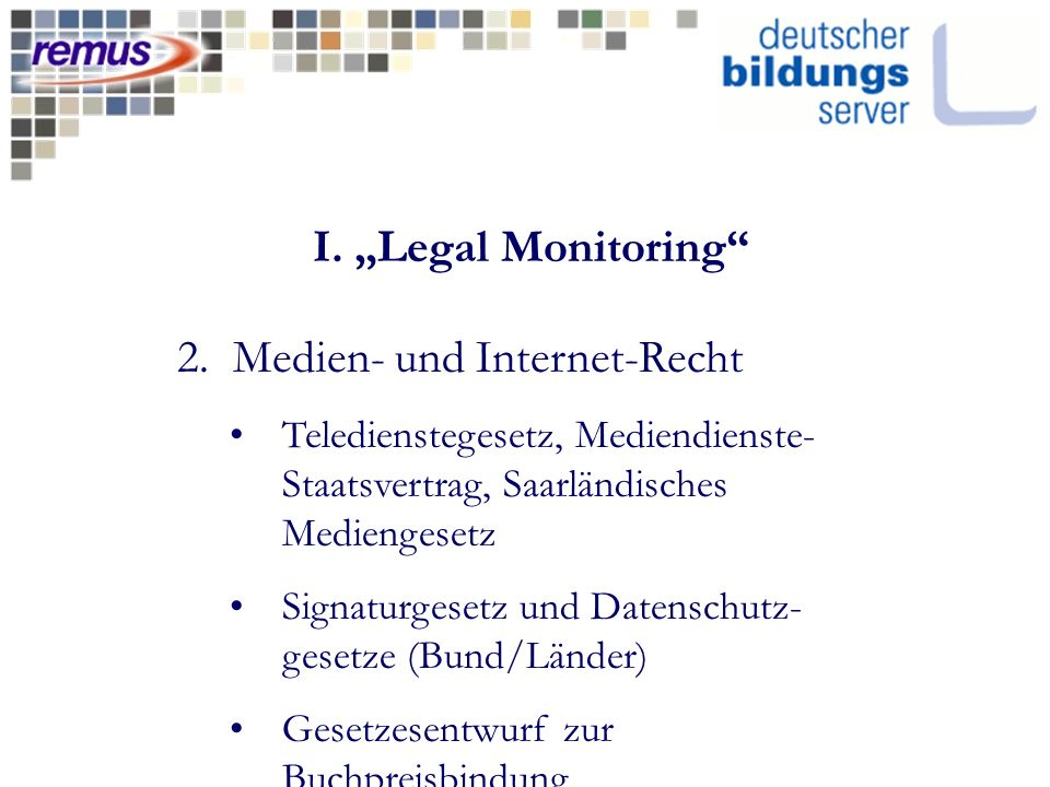 I. Legal Monitoring 2.