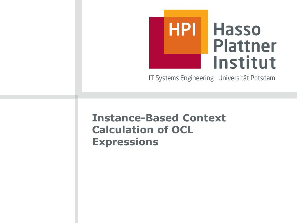 Instance-Based Context Calculation of OCL Expressions