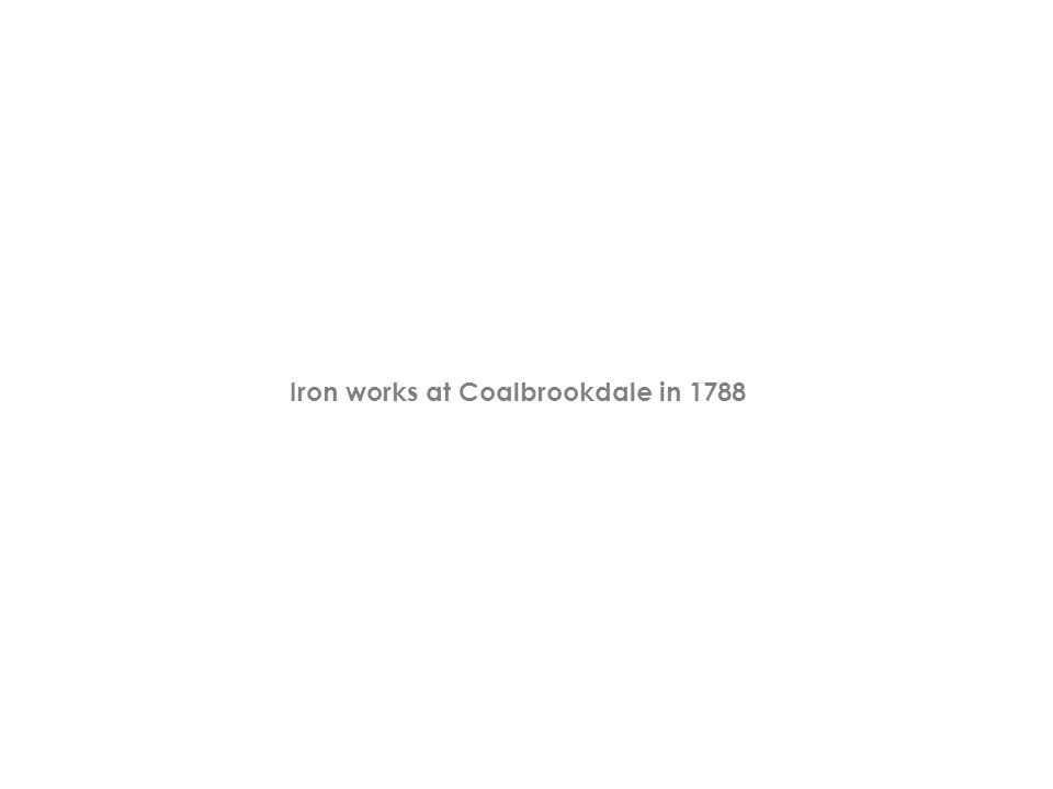 Iron works at Coalbrookdale in 1788